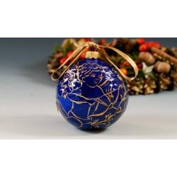 Bombka porcelanowa kobaltowo-złota