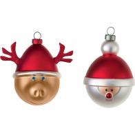 Bombki świąteczne Babbarenna i Babbonatale 2 sztuki AMJ14SET5 Alessi Sklep internetowy