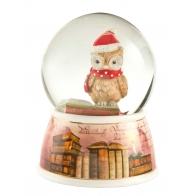 Pozytywka Kula śnieżna z sową Fairy Tale 15cm 66-701-36-8 Goebel sklep porcelana