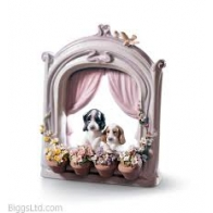 Figurka Pieski w oknie 21x18 cm 01006502 Lladro sklep