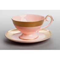 Filiżanka do hebaty Prometeusz - Królewska złota - różowa porcelana AS Ćmielów sklep internetowy