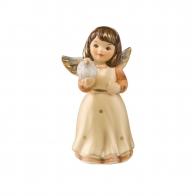 Figurka Mini Aniołek z gołębiem 4,5cm kremowy