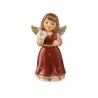 Figurka Mini Aniołek z gołębiem 4,5cm burgund 41550291 Goebel sklep