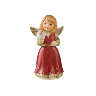 Figurka Mini Aniołek z gołębiem 4,5cm czerweń 41550311 Goebel sklep