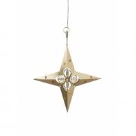 Gwiazda świecąca Led złota & czub na choinkę Jette Frölich 2086