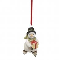 Zawieszka figurka Bałwanek z prezentem 7cm 66702171 Goebel sklep