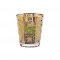 Świecznik szklany 10cm Fryz Stocleta Gustav Klimt 66900853 Goebel sklep