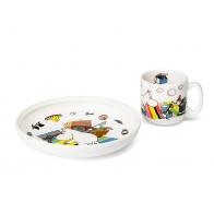 Zestaw prezentowy talerz i kubek Muminek 6411801003406 Arabia sklep