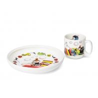 Zestaw prezentowy talerz i kubek Mała Mi 6411801003413 Sklep Arabia