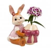 Wazon Figurka Zając z jajkiem 12cm Goebel
