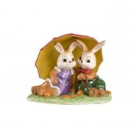 Figurka Zające pod parasolem 10cm 66843521 Goebel