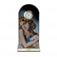 Zegar Kobieta z gołębiem 23 cm Tamara De Lempicka 670721 Goebel