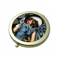 Lusterko 7,5cm Kobieta w rękawiczkach Tamara De Lempicka 67070191 Goebel