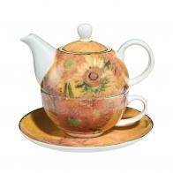 Zestaw Tea For One 15cm/0,35l Słoneczniki Vincent van Gogh 66879781 Goebel
