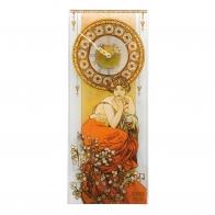 Zegar Ścienny Topaz 20x48 cm Alfons Mucha 67000511 Goebel
