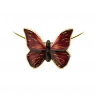 Naszyjnik Czerwony Motyl Joanna Charlotte 26-150-46-1 Goebel