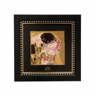 Obraz porcelanowy 25x25cm Pocałunek - Gustav Klimt 66-518-51-1 Goebel