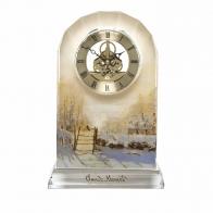 Zegar kryształowy 23cm Krajobraz Zimowy Claude Monet 67021581 Goebel