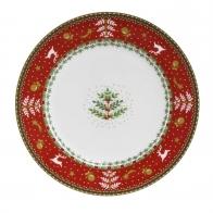Talerz świąteczny z porcelany 21cm 51000051 Fitz and Flyd Porcelana goebel