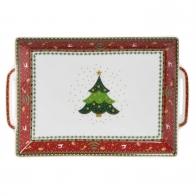 Taca świąteczna na ciasto z porcelany 22-41cm Fitz and Floyd Porcelana goebel