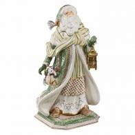 Figurka Mikołaj w zielonym płaszczu 52cm fitz and Floyd 51000351 Goebel