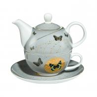 Zestaw Tea For One 15cm/0,35l Szare Motyle Joanna Charlotte 26150501 Goebel
