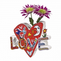 Wazon z porcelany 15cm Love is the Air 26101139 James Rizzi Goebel