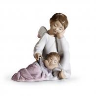 Figurka Opiekuńczy Anioł (różowy) 14cm 0108549 lladro