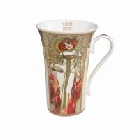 Kubek porcelanowy 0,5l Jesień-Zima Alfons Mucha 67012061 Goebel