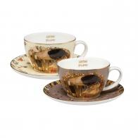 Zestaw Filiżanek do herbaty 0,25l Pocałenek Gustav Klimt 67012511 Goebel