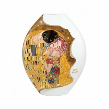 Wazon z porcelany 31cm Pocałunek Gustav Klimt 66500421 Goebel