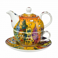 Zestaw Tea For One 15cm/0,35l City Sunset James Rizzi 26101731 Goebel