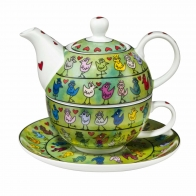 Zestaw Tea For One 15cm/0,35l Ptaki James Rizzi 26101741 Goebel