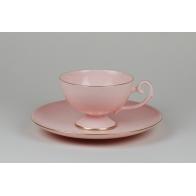 Filiżanka do kawy Prometeusz różowa porcelana A.Spała