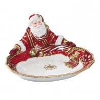 Taca z porcelany z Mikołajem 30cm 51000401 Fitz and Floyd