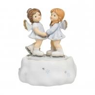 Pozytywka z porcelany dwa aniołki 16cm 11750191 Goebel