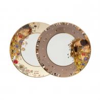 Zestaw talerzy 23cm z porcelany Pocałunek Gustav Klimt 67013011 Goebel