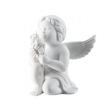 Figurka Anioł z kwiatami, duży 14 cm Rosenthal 69056-000102-90520