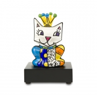 Figurka Her Royal Highness kot w koronie 14 cm - Romero Britto Goebel 66451661