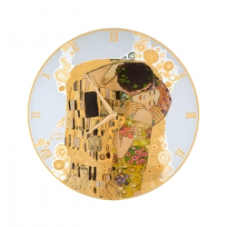 Zegar szklany 30,5 cm Pocałunek - Gustav Klimt