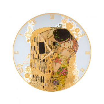 Zegar szklany 30,5 cm Pocałunek - Gustav Klimt Goebel 67021550