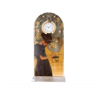 Zegar kryształowy 23 cm Muzyka - Gustav Klimt Goebel 66523221