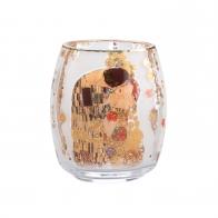 Świecznik - Tealight 13,5 cm Pocałunek - Gustav Klimt Goebel 66903501