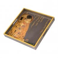 Taca drewniana 37 cm Pocałunek - Gustav Klimt Goebel 67017511