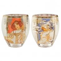 Wazon 21 cm Cztery Pory Roku - Jesień / Zima 1900 - Alfons Mucha Goebel 66915961