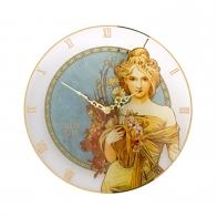 Zegar 30,5 cm Wiosna 1900 - Alfons Mucha Goebel 66886841