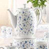 Zestaw do kawy dla 2 osób Blaubluten Arberg porcelana serwis