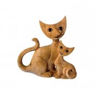 Figurka drewniana Koty Loris i Silvana 17 cm Rosina Wachtmeister Goebel 31868021