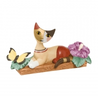 Figurka 14,5 x 7,5 cm cm Kot leżący z motylem - Rosina Wachtmeister Goebel 31347011