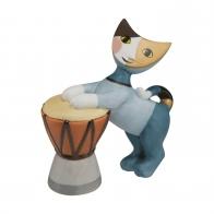 Figurka 9 cm Koty z bębnem - Rosina Wachtmeister Goebel 31353011